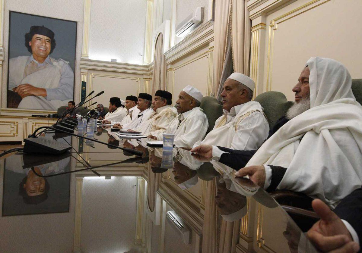 libyan tribal meeting in tripoli