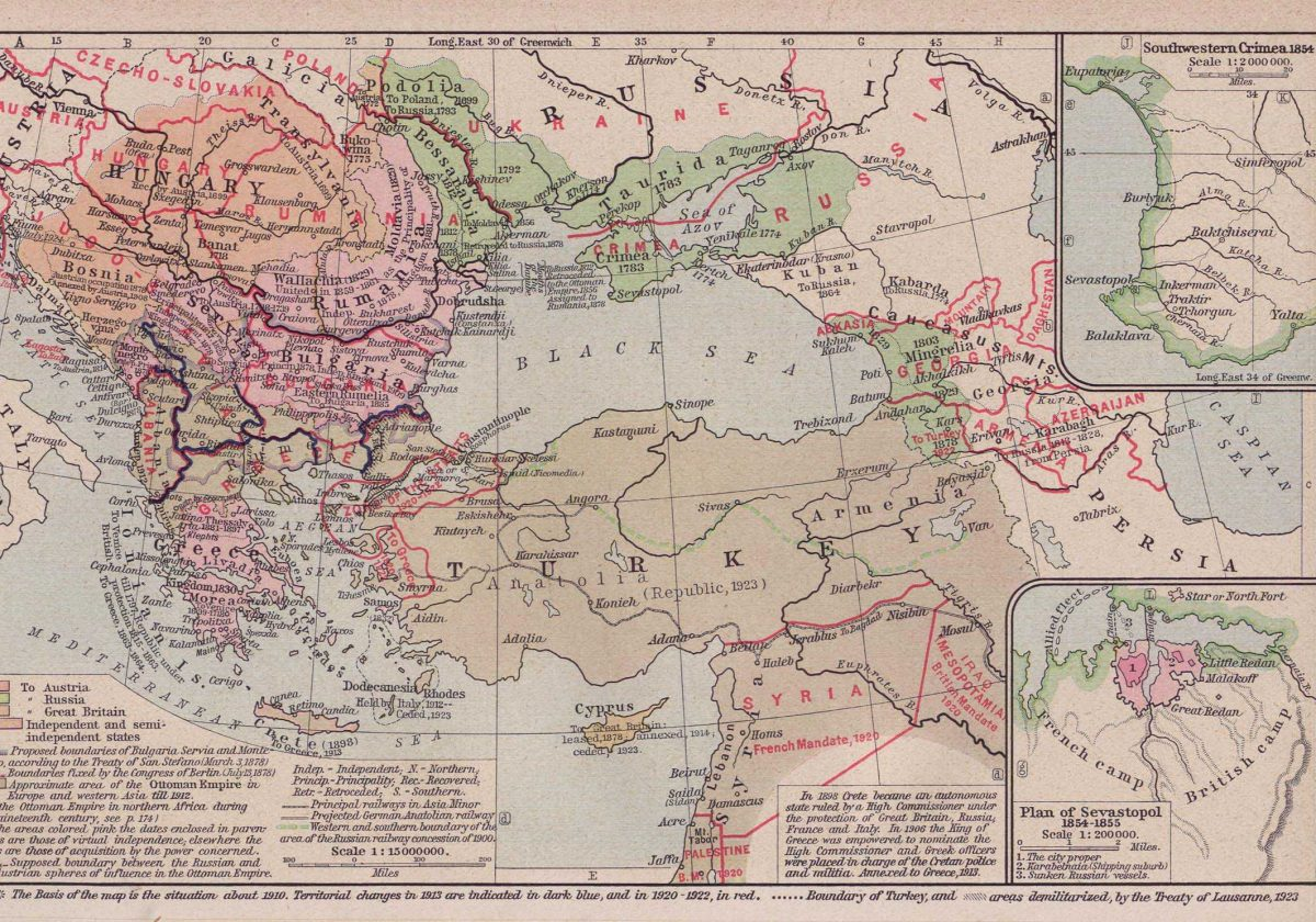 post ottoman map