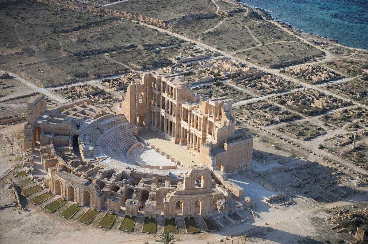 roman ruins in libya