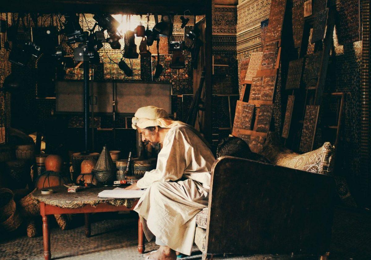 moroccan seller in medina