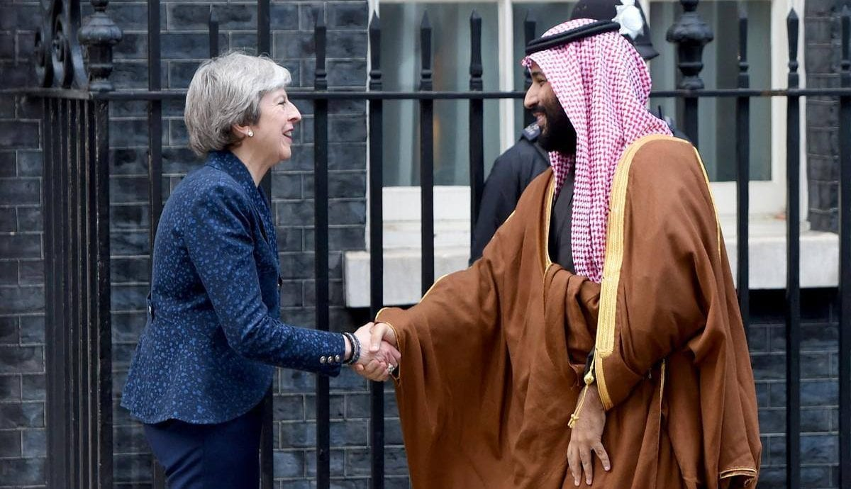 theresa may x mohammed bin salman